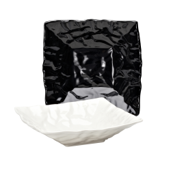 "M12123 Crinkled Paper Square Bowl 12"" sq. x 3 ½"" h., 3 qt.,"