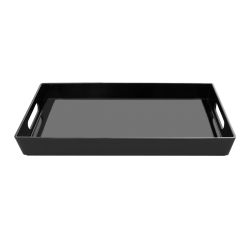 "M7162-B Service Trays Rectangular Tray 16"" x 7"" x 2"" h., Black"
