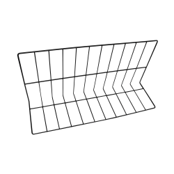 "W81226-B Wire Divider, Vinyl Coated 8"" x 12"" x 26"" L., Black"