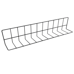 "W4628-B Wire Divider, Vinyl Coated 4"" x 6"" x 28"" L., Black"