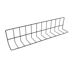 "W4626-B Wire Divider, Vinyl Coated 4"" x 6"" x 26"" L., Black"