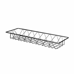 "W618 Rectangular Wire Basket 18"" x 6"" x 2"" h."