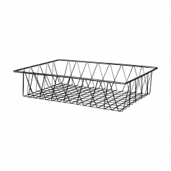 "W18124 Rectangular Wire Basket 18"" x 12"" x 4"" h."