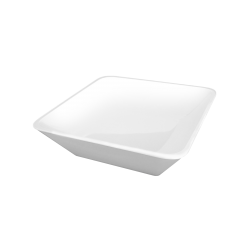 "M10SQ-W Belize Square Bowl  10"" sq. x 3"" h., 2.25 qt., White"