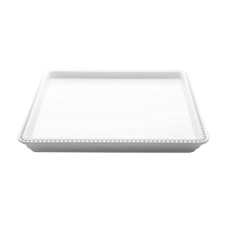 "M1010SQ-W Venetian Square Tray 10"" sq. x 1"" h., White"