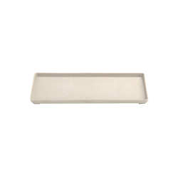 "ECO412-PP - Greenovations Rectangular Tray 12"" x 4 ¼"" x ¾"" h., Papyrus"